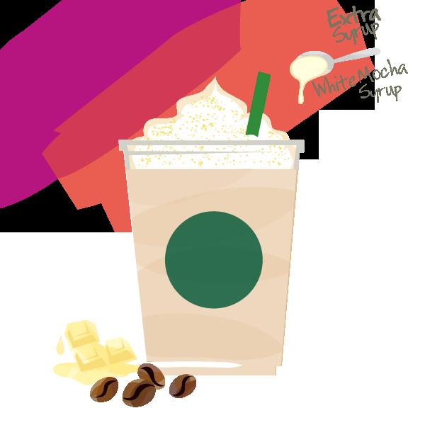 アイス エクストラシロップ ホワイト モカ with ホイップクリーム