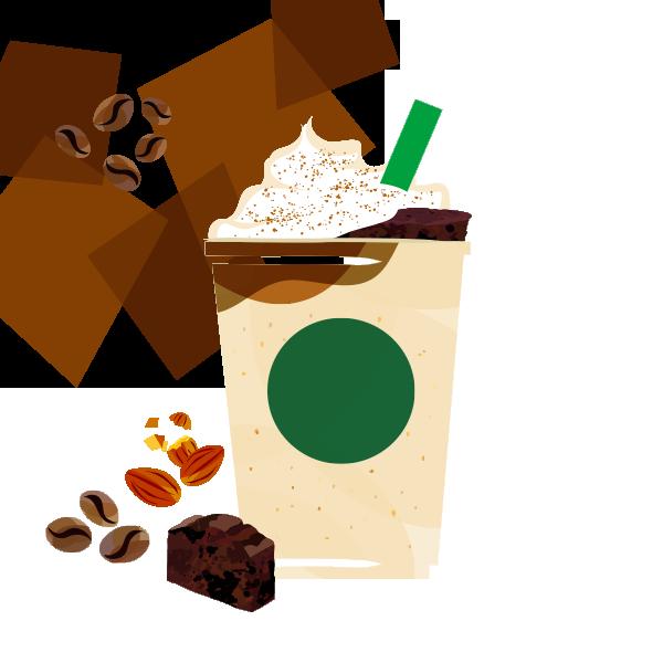 エクストラ コーヒー チョコレート ケーキ トップ フラペチーノ® with コーヒーショット