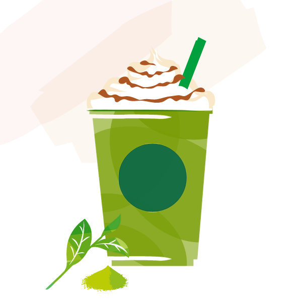 抹茶 クリーム フラペチーノ ® with チョコレートソース