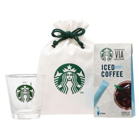ロゴグラス296ml & スターバックス ヴィア® アイスコーヒー