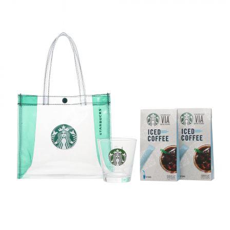 ロゴグラス296ml & スターバックス ヴィア® アイスコーヒー10本入り 2個
