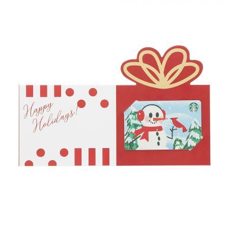 ホリデー スターバックス カード ギフト スノーマン(入金済み)